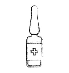 Isolated medicine liquid bottle vector
