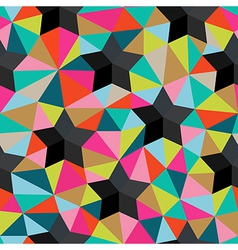 Background of repeating geometric stars and vector