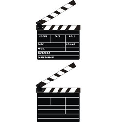 Cinema clapboards vector