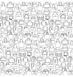 Seamless pattern with bags vector