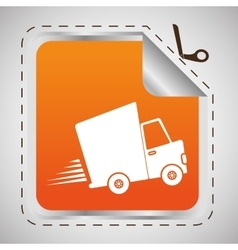 Flat of free delivery design vector