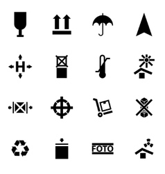 Black marking of cargo icon set vector