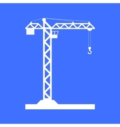 Building tower crane icon - vector
