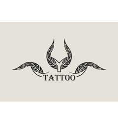 Abstract tattoo black grunge symbol vector