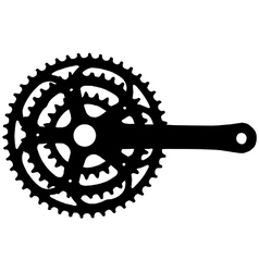 Bicycle crankset vector image