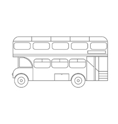 Bus London Thin Line vector image