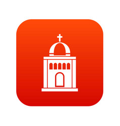 church icon digital red vector image
