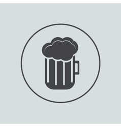 Circle icon on gray background eps 10 vector