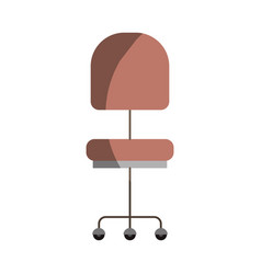 colorful graphic of office chair front view vector image