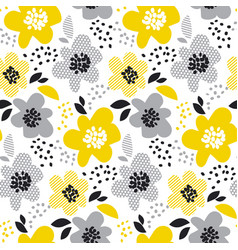 contemporary spring floral seamless pattern with vector image