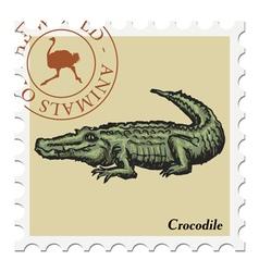 crocodile vector image
