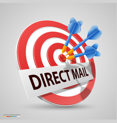 Direct mail target dart icon vector