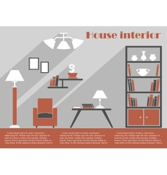 House interior design infographic template vector