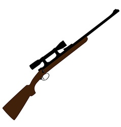Hunting rifle with sight vector