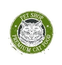 kitten logo design template cat or pet vector image vector image