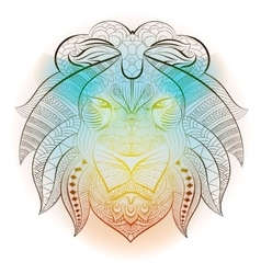 Lion tribal ethnic animal vector