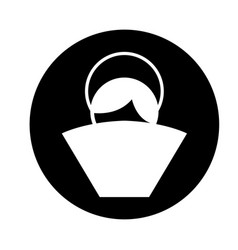 manger jesus baby figure silhouette icon vector image vector image