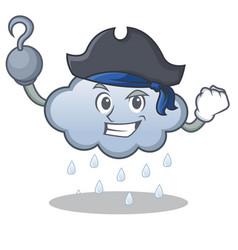Pirate rain cloud character cartoon vector