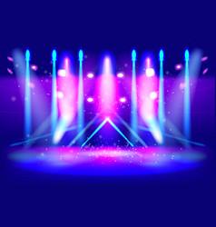 scene illumination show bright lighting vector image vector image