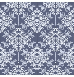 Seamless Blue Damask vector image vector image