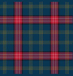 tartan seamless pattern background red black vector image