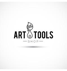 Art tools and materials for painting logo vector