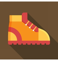 Tourist hiking boot icon vector