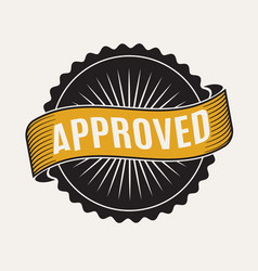 Approved stamp sign vector