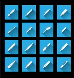 Writing Tools icons vector image