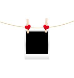 hearts clothespins 10 vector image