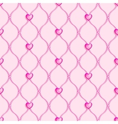 Pink seamless glass beads vector