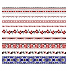 Ukrainian embroidery ornament vector
