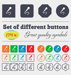Microphone icon sign big set of colorful diverse vector