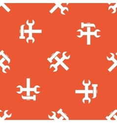 Orange repairs pattern vector