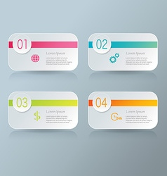 Infographic template with step options for vector