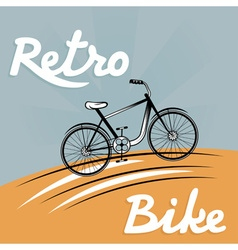 Retro of bicycle vector