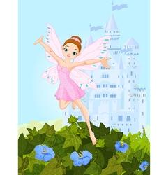 Pink fairy vector