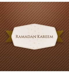 Ramadan kareem realistic banner with text vector
