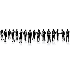 Business people in a row vector