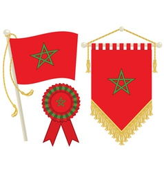 Morocco flags vector