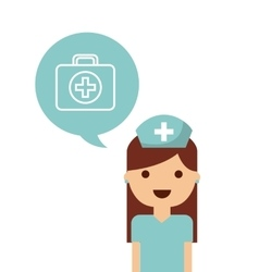 Medical kit and nurse icon medical and health vector