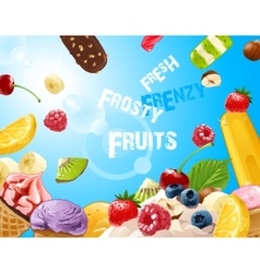 background delicious ice cream vector image