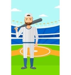Baseball player with bat vector image vector image