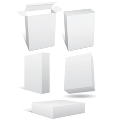 blank boxes vector image vector image