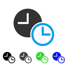 Clocks flat icon vector