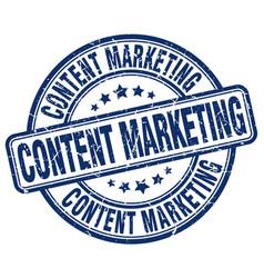 Content marketing stamp vector