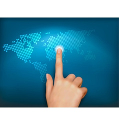 finger touch world vector image vector image