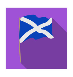 Flag of scotland icon in flat style isolated on vector