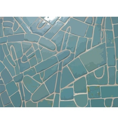 Glazed cyan stone mosaic texture vector image vector image