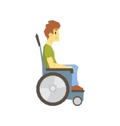 Guy In Wheelchair Young Person With Disability vector image vector image